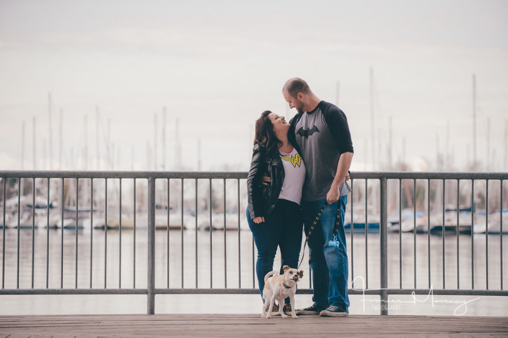 Toronto Waterfront Engagement Photography with Dog
