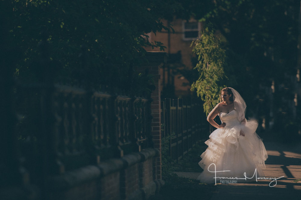 Journalistic wedding photography in Toronto streets
