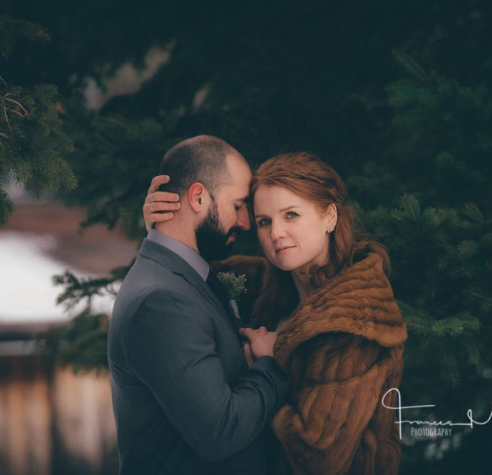 Millcroft Inn Winter Wedding Photographer