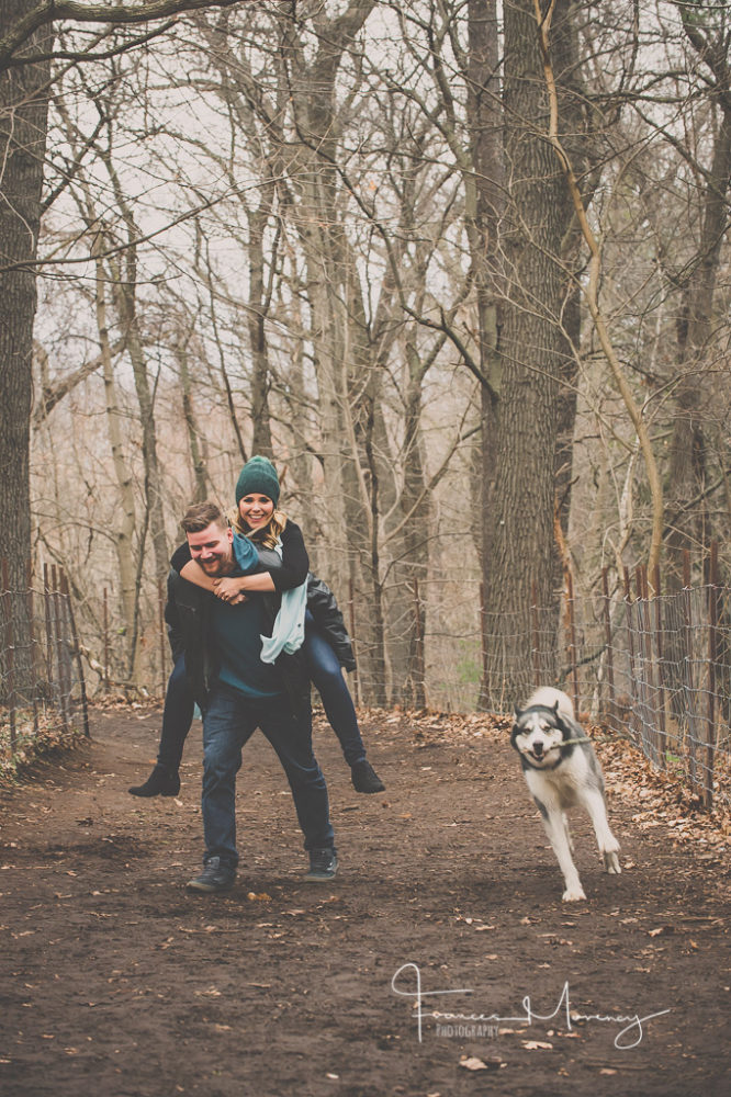 Unposed High Park Engagement with Dog