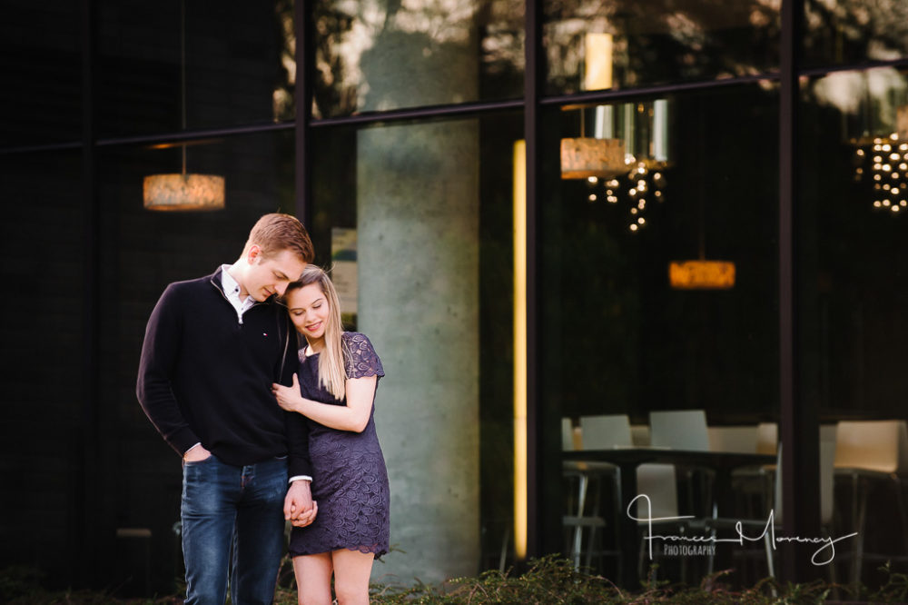 Journalistic engagement photography in a classy location