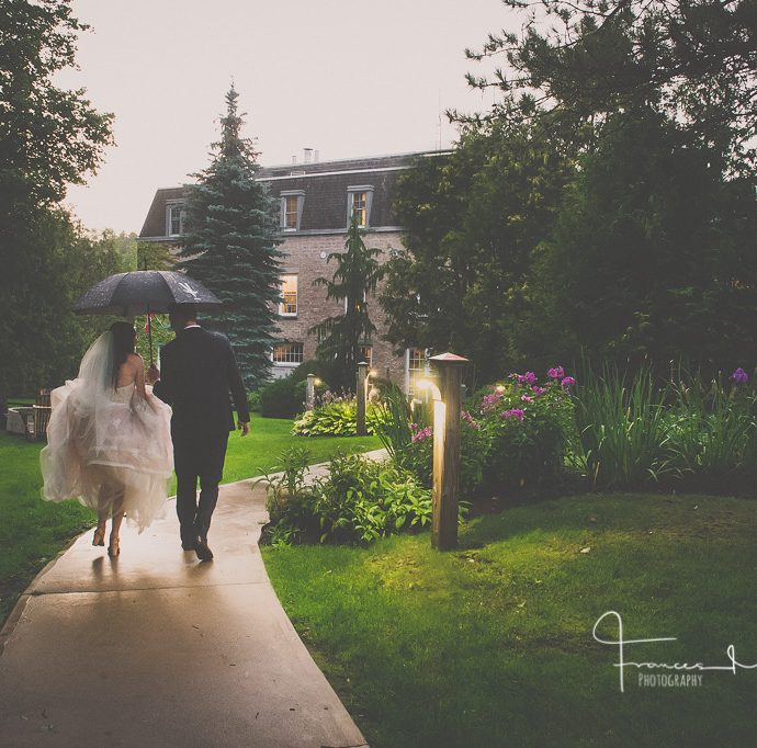 Millcroft Inn Rainy Wedding Day