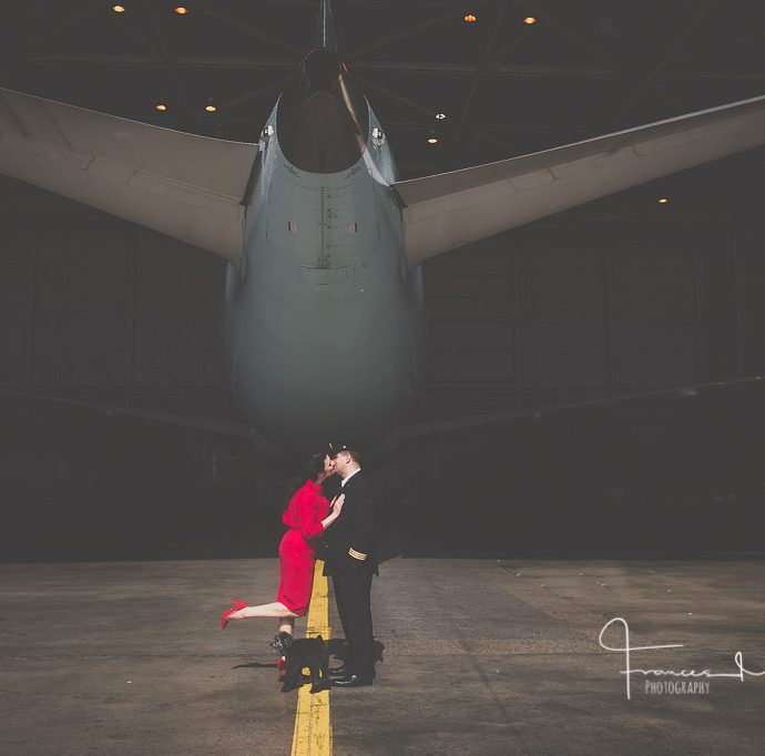 Airport Engagement Photography with Boeing 787-9 Dreamliner