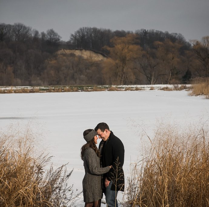 Collingwood Winter Engagement Photographer