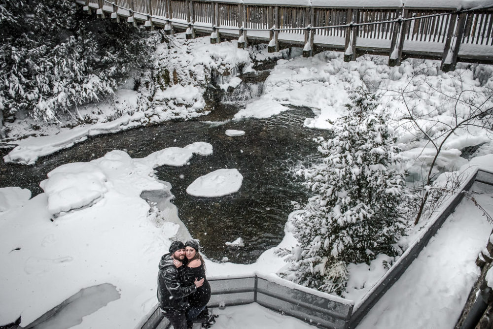 Belfountain Winter Engagement Photography