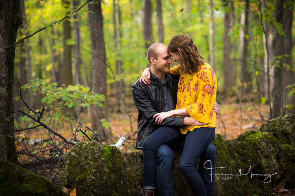 Caledon unposed engagement at Mono Cliffs