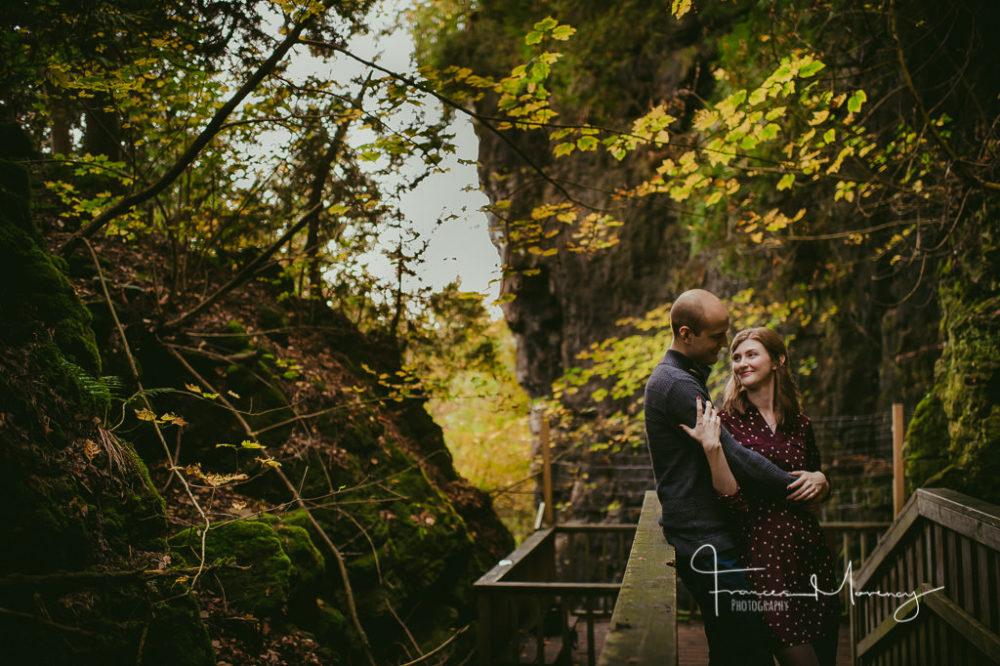 Caledon unposed engagement at Mono Cliffs