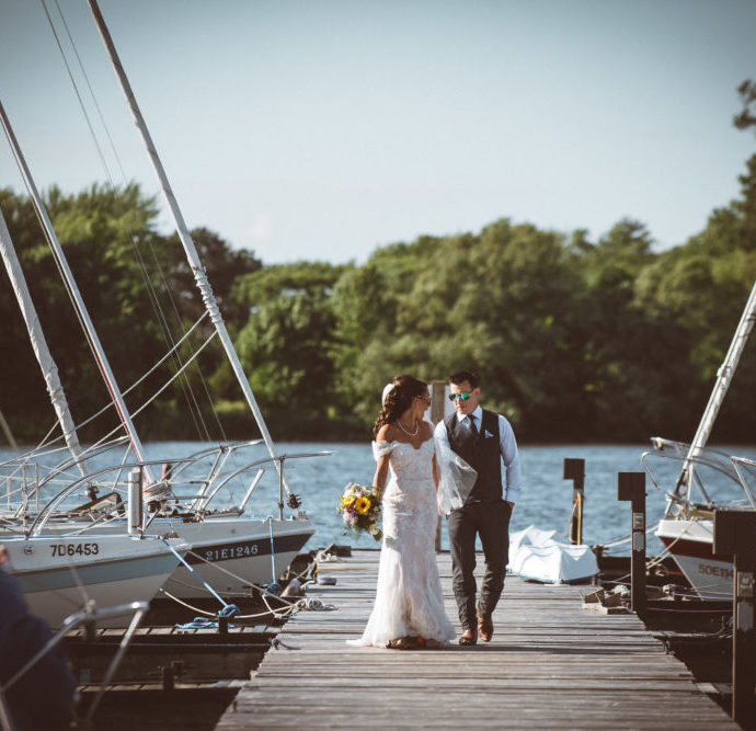 Trenton Journalistic Waterfront Wedding Photography