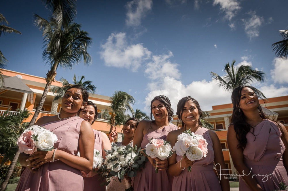 Luxury Bahia Principe Destination Wedding Bridal Party