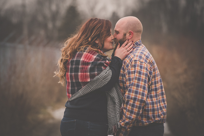 Caledonia Engagement Session at The Grand River