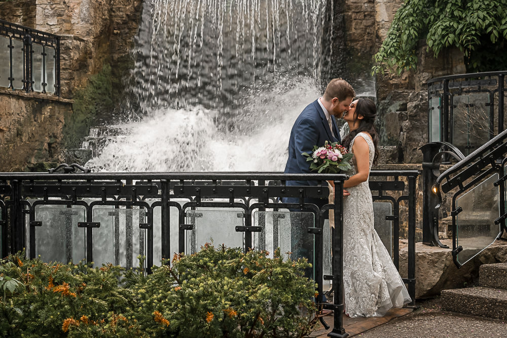 Waterfall portrait at Ancaster Mill