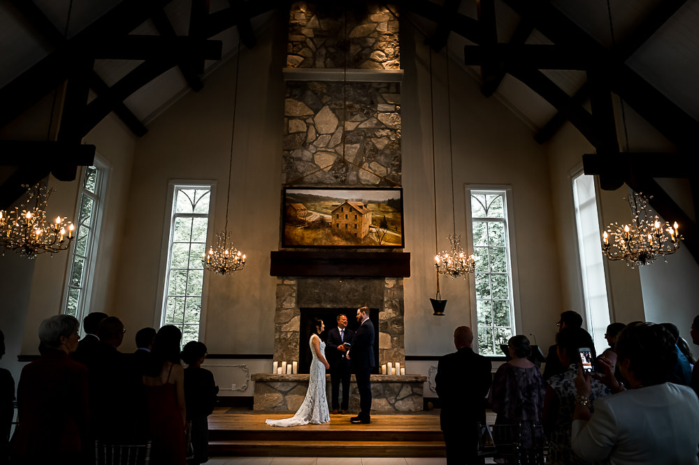 Ancaster Mill chapel wedding ceremony