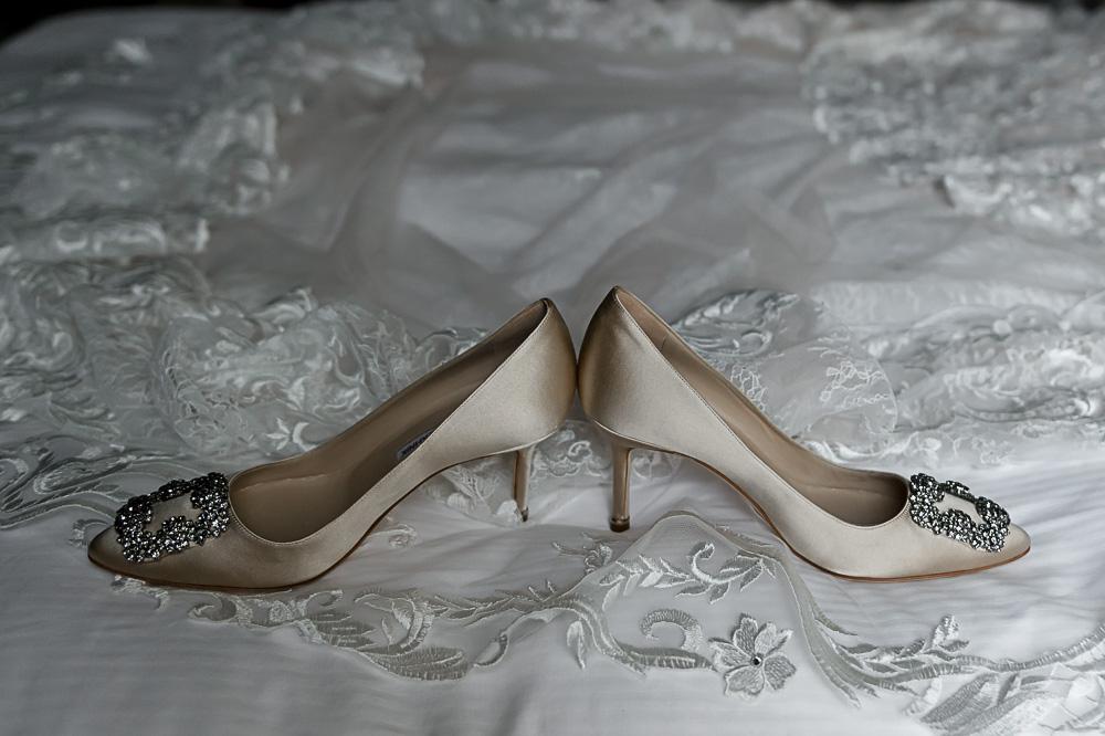 manolo shoe photo on wedding dress