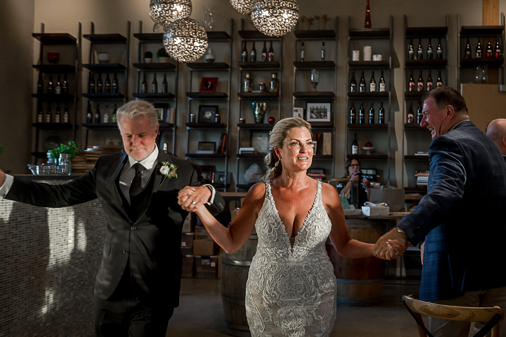 introductions at Adamo Estate Winery Wedding