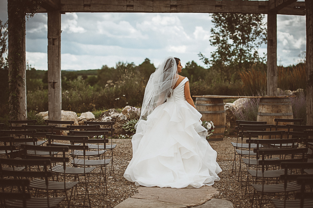 Bride portrait in ceremony space