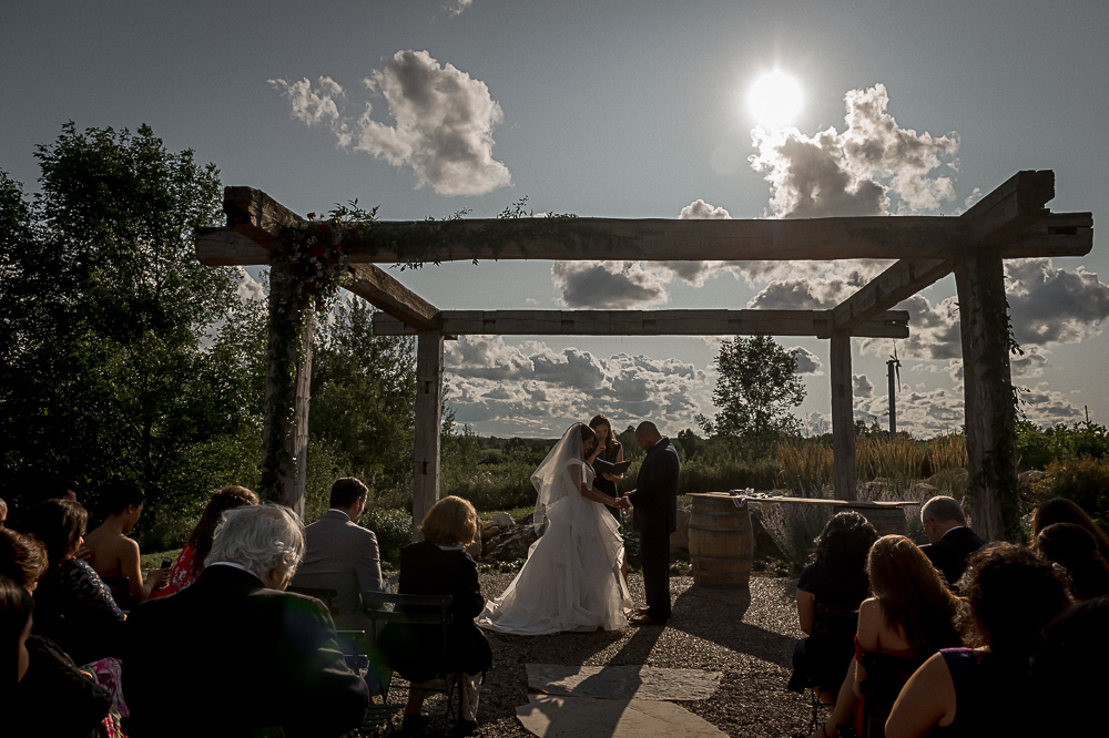 outdoor ceremony wit back light
