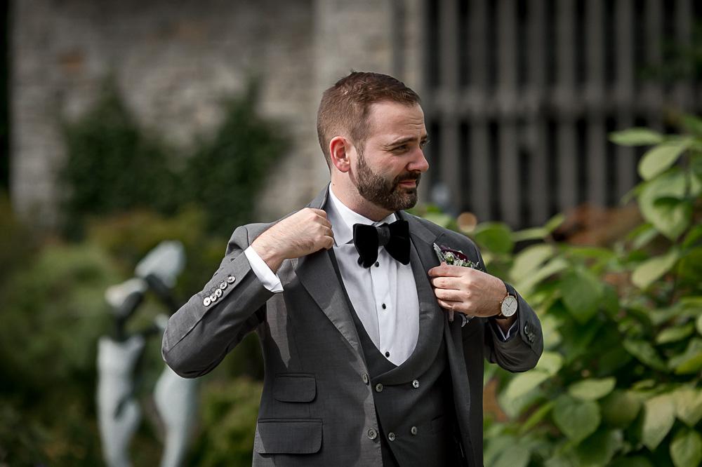 mini groom prep in garden