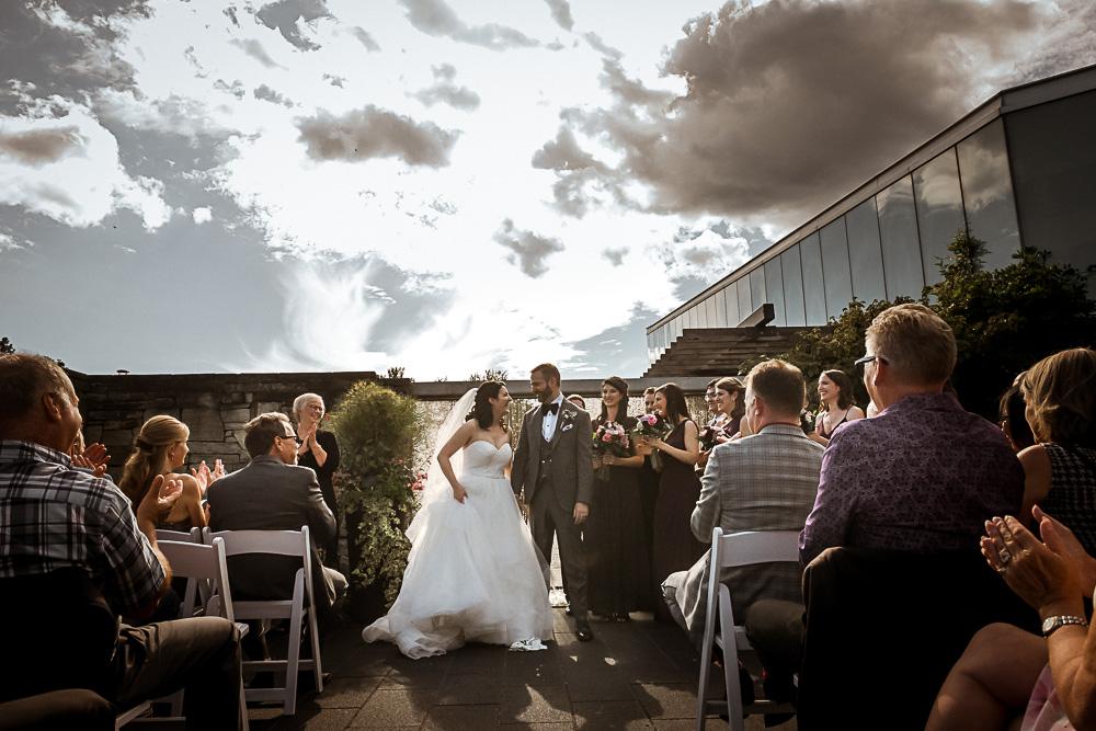 Toronto outdoor wedding ceremony