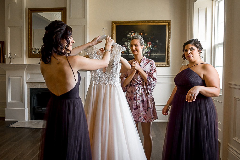 bride reaction when she is getting ready