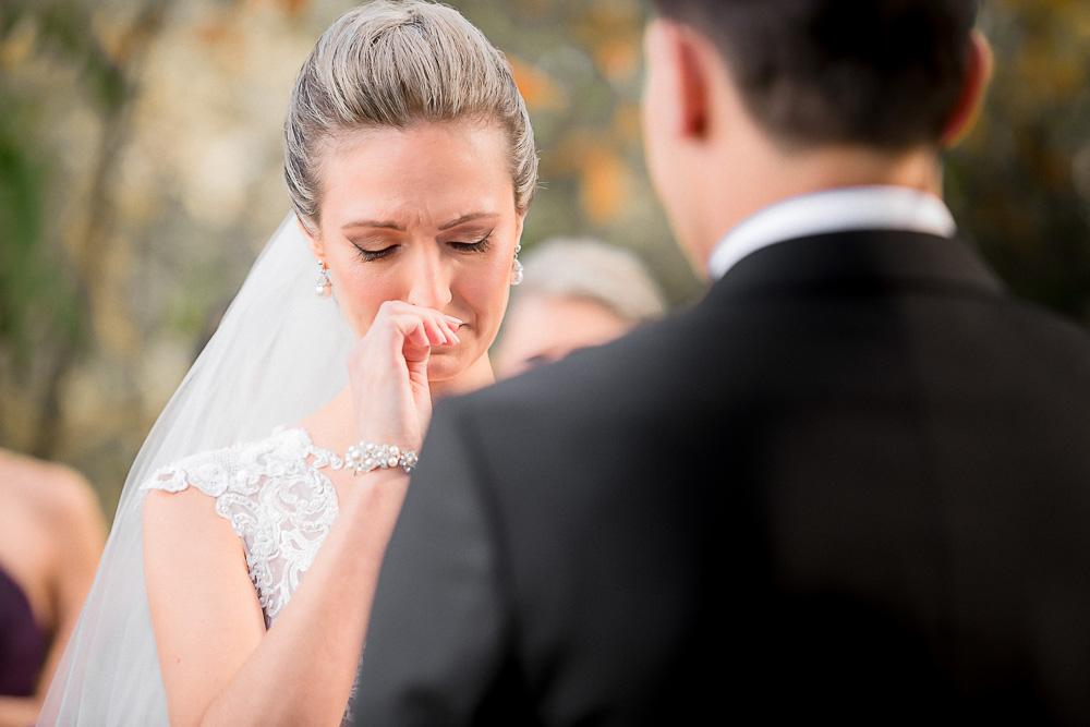 overwhelmed bride getting emotional
