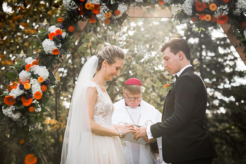 wedding ceremony at Springer Estate