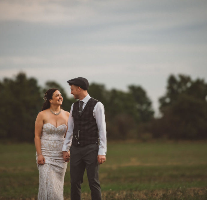 Markdale Farm Wedding with Fields of Birds